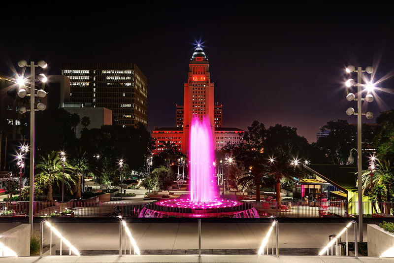 City Hall And Grand Park - Los Angeles, CA