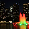 Downtown with a DWP Fountain - Los Angeles, CA