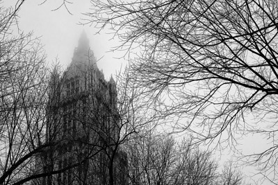 Woolworth Building Shrouded in Clouds - New York, NY