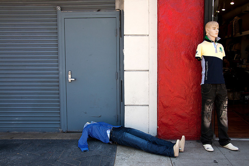 Man Down On Melrose - Los Angeles