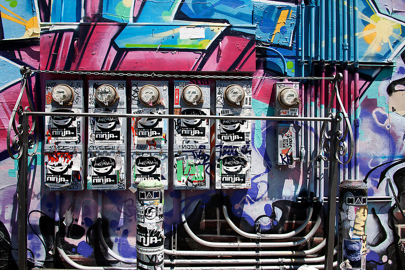 Bank Of Electric Meters - Los Angeles