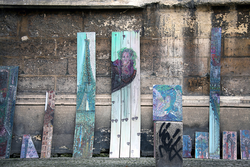 Art Display Outside St Marie Cloiture