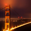 Golden Gate Bridge on a Foggy Night - San Francisco
