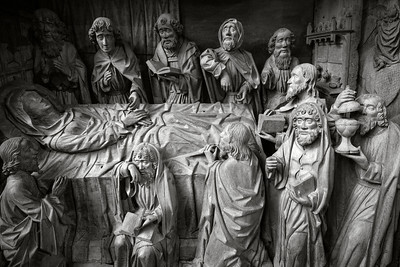 Dormition of the Virgin _ bw