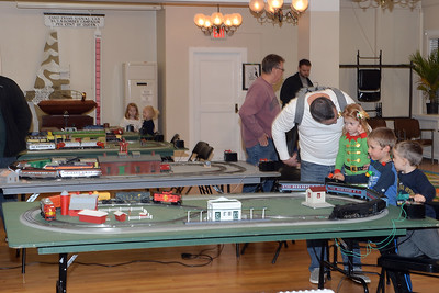 Dinner with Santa was held at InfoAge Science History Learning Center and Museum in Wall, New Jersey and featured a pizza dinner, arts and crafts, a variety of operating train layouts and, a visit with Santa on 12/13/2018. (STEVE WEXLER/THE COAST STAR).