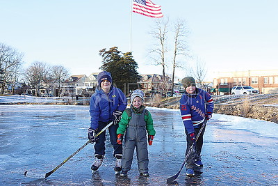 SL Ice Skating _ McCarthy brothers Sean 10, Michael 5 and Brendan 8 of Spring Lake