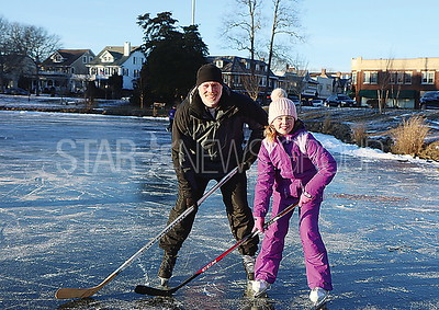 SL Ice Skating / Jim Keady with daughter Reese 9 of Spring Lake