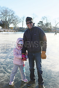 SL Ice Skating / Mike Clark with daughter Brynn 5 of Wall