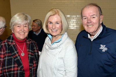 Nancy Pongkac, Eileen Devlin, and Don McLaughlin Sea Girt, New Jersey residents attended the Egg Nog Social event at the Sea Girt Fire Department on 01/01/2019. (STEVE WEXLER/THE COAST STAR).