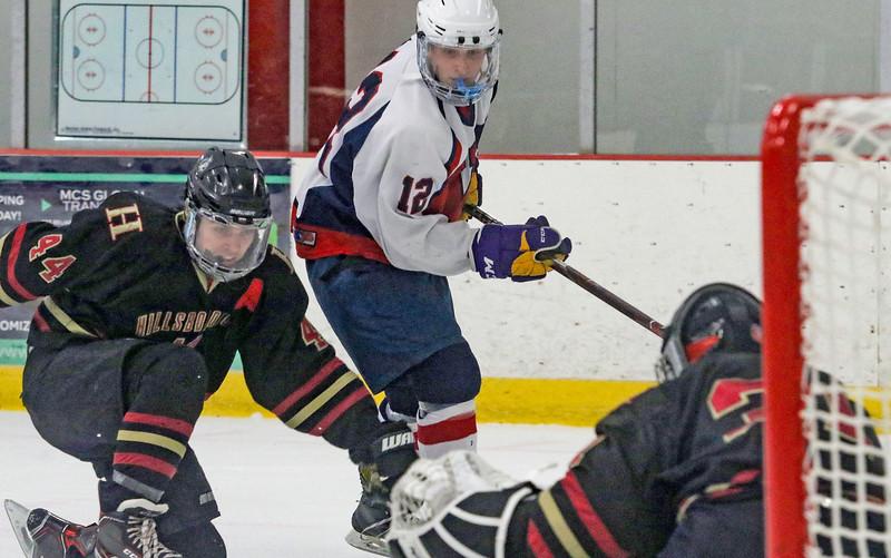 no.12, Kyle O'NeilWall v/s Hillsborough hockey in Wall, NJ on 1/4/19.[DANIELLA HEMINGHAUS   THE COAST STAR]