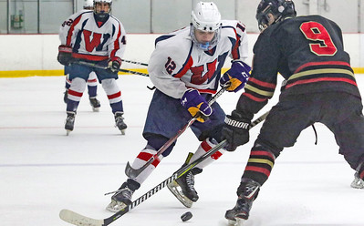 no.12, Kyle O'Neil Wall v/s Hillsborough hockey in Wall, NJ on 1/4/19. [DANIELLA HEMINGHAUS | THE COAST STAR]