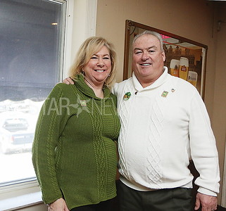 SQ beach house BMR parade fundraiser//  Grand Marshal Dan Reilly with wife Eileen of Manasquan