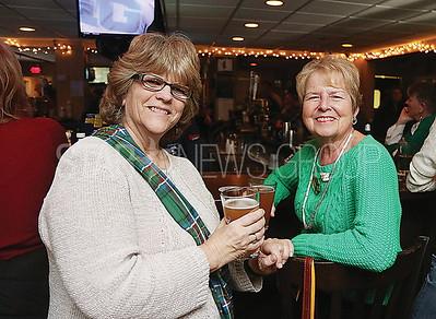 SQ beach house BMR parade fundraiser// Pam Pertgen of Brick and Helen Hopkins of Sea Girt