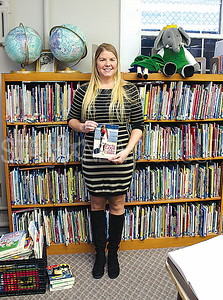"Avon Author reading at Avon Public Library 01/07/2016: Chrissy Lourenco with her book ""For the Love of the Ocean"""