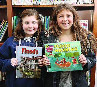 SG Elementary Library Research// L to R: Jackie D 9 and Grace D 9