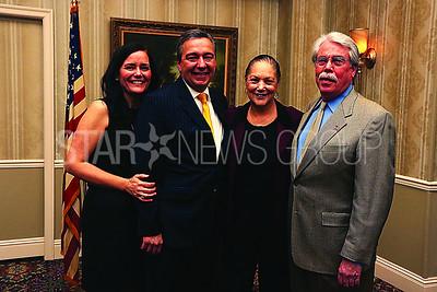 Pride of Brielle Honoree// Darcy Garuzzo. Councilman Frank Garuzzo. Deacon Maude Galloway and Mayor Nicols