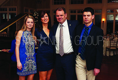 Pride of Brielle Honoree// Jack Tobin and Family. Daughter Mara, Wife Mary, Jack and Son Danny ( NOT PICTURED sons Sean and Liam both in college)