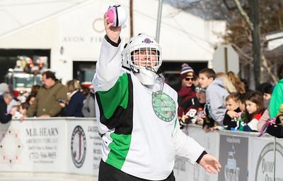 Cadi Long handing out stuffed animals. The 8th annual Challenger Winter Classic hockey game in Avon, NJ on 2/3/19. [DANIELLA HEMINGHAUS | THE COAST STAR]