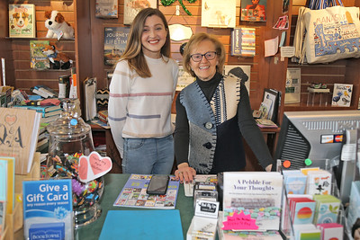 Rita Maggio (left) owner of the Booktowne Book Store and part time store manager Jenna Schenk located along Main Street in Manasquan  are photographed on Friday Feb. 22, 2019. (MARK R. SULLIVAN /THE COAST STAR)