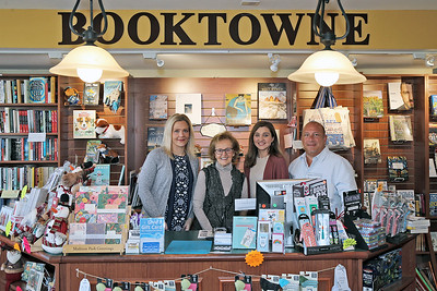 Booktown 171 Main Street Manasquan Deb Maggio, Rite Maggio, Jenna Schenk and Peter Albertelli (MARK R. SULLIVAN /THE COAST STAR)