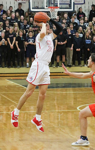 no.23, Quinn Calabrese Wall boy's basketball v/s Middletown North in Wall, NJ on 2/28/19. [DANIELLA HEMINGHAUS | THE COAST STAR]