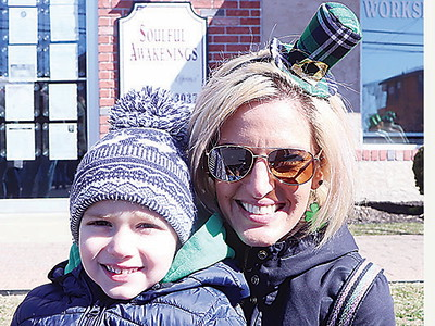 BELMAR ST. PATRICKS DAY PARADE// Jess Morin and her son Billy Medler 4 of West Belmar