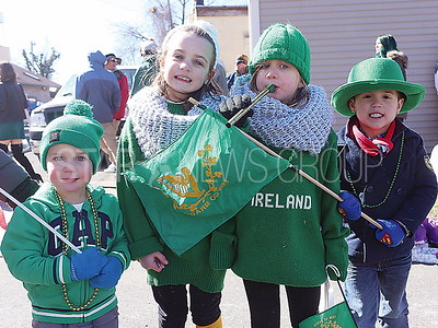 BELMAR ST. PATRICKS DAY PARADE//Jake Osmond 2, Grace Osmond 6,  Lily Osmond 4 of Wall with Colin English 4 of Chatham