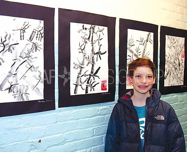 Bradley Beach Elementary School Art Fair 03/09/2016: Luke Bardinas age 11 from Bradley Beach