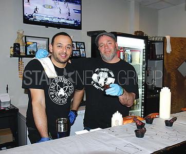 Belmar Restaurant Tour 03/12/2017 from L to R: Jersey Shore BBQ Rangel Irias and Douglas Walsh from Belmar