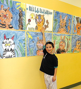 Bradley Beach Elementary School Art Fair 03/09/2016: Daniel Milchman age 6 from Bradley Beach