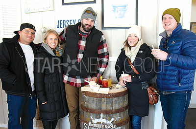 Belmar Restaurant Tour 03/12/2017 from L to R: Dave Arnst, Kristen Rusterholz, Mike Thaner all from Freehold, Kelly Gerrity, Chester Gerrity both from Middletown