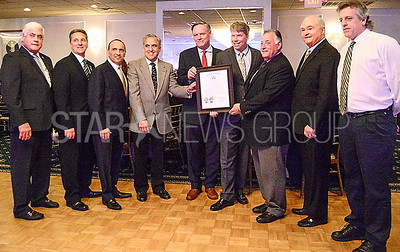 b.b. mayor with other members of the council and freeholders