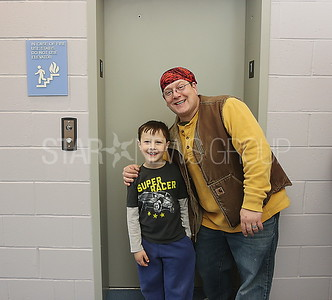 BB Library rededication// Bradley beach residents Max Gast 7 and his dad Ryan took a ride in the new elevator