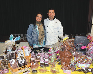"Manasquan Woman's Club Spring Fling Vendor Fair 04/01/2017: Doris Jost and Peter Jost from Sea Girt with ""Pierre Chocolat"""