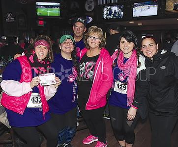 Lake Como De-FEET 5K 04/01/2017 from L to R: Lisa Siringano, Veronica Siringano, Jim Necci, Fran Necci (Breast cancer survivor), Christina Necci, Laura Necci all from Old Bridge