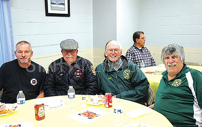 Bradley Beach United Engine and Truck Annual Spring Fish Fry event 04/07/2017 from L to R: Tom Bennett, Bob Kepler, Jack Henry, Vincent Gionfriddo all from the Neptune Fire Department