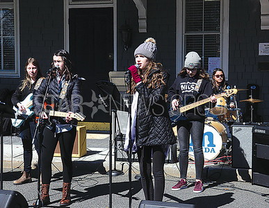 Sea Girt Easter Egg Hunt 04/08/2017 from L to R: Manasquan Music Dance and Arts Band