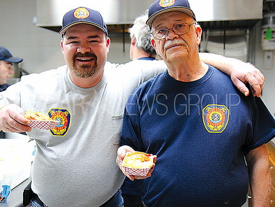 Bradley Beach United Engine and Truck Annual Spring Fish Fry event 04/07/2017 from L to R: John Christensen and Roy Christensen from Bradley Beach