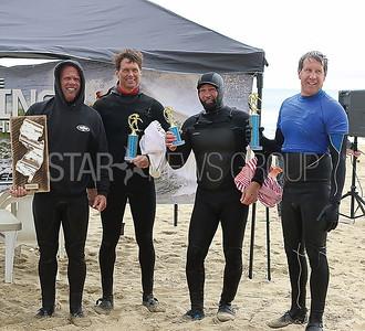 BMR Surf Comp// Legends Heat Winners Jack Murphy 1st. Chris Divito 3rd. Gary Finnegan Sr. 4th and Dean Schoonover 2nd.