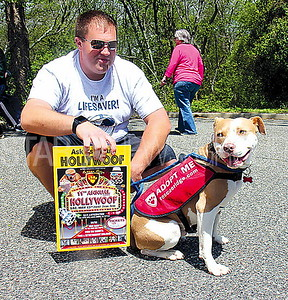 Wall Coldwell Banker Pet Adoption 5/6/2017: Jeff Marshall Representing Rescue Ridge with Roofus (Staffordshire Terrier Mix)