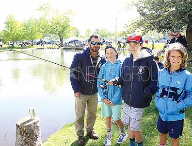 Manasquan PBA Junior Fishing Contest 5/6/2017 from L to R: Bobby Quinn, Niland Diluchio age 12, Jack Quinn age 12, Kellan Quinn age 9 all of Manasquan