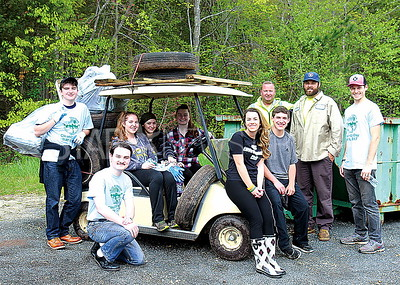 Wall Community Clean-Up Day 5/6/2017: Camp Evans Cleanup by Environmental Club Lead by Wall High School Science Teacher Joshua Tennant (First from right)