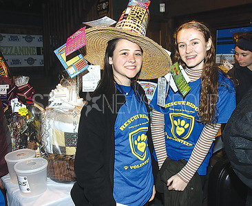 Lake Como Hollywoof Fundraiser 05/13/2017 from L to R: Volunteers from Shore Regional High School Diana Stevenson age 17 and Cynthia Pearsall age 17