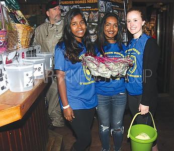 Lake Como Hollywoof Fundraiser 05/13/2017 from L to R: Volunteers from Freehold Township High School Ashu Gunashekaran, Aishu Gunashekaran and Mackenzie Kean age 17