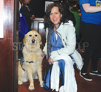 Lake Como Hollywoof Fundraiser 05/13/2017 from L to R: Leslie Green from Good Shepherd Lutheran Church (Old Bridge NJ) with comfort dog Lily