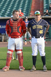 Wall High School Varsity Baseball Catcher, David Howarth being introduced at the 2019 Shore Conference All-Star Baseball Game on 06/12/2019. (STEVE WEXLER/THE COAST STAR).