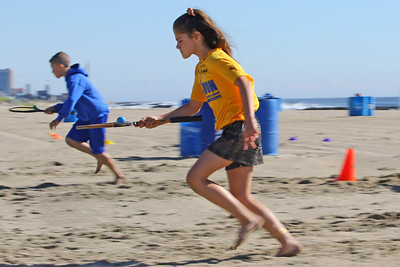 Students race by during the egg race as  Avon Elementary School students enjoyed the at Norwood Ave beach in Avon -by-the-Sea during their annual Field day On Friday June 14, 2019. (MARK R. SULLIVAN /THE COAST STAR)