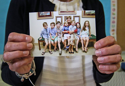 A photo of Joanne Clark with her grandkids. Joanne Clark at her classroom in the First Presbyterian Church in Manasquan, NJ on 6/19/19. [DANIELLA HEMINGHAUS | THE COAST STAR]