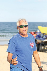 avon ANSWER drills// Bradley Beach beach supervisor Dick Johnson