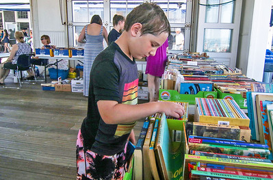 Ryan Patterson, from shark river hills. The book fair in Avon-by-the-Sea, NJ on 6/28/19. [DANIELLA HEMINGHAUS | THE COAST STAR]